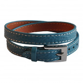 Bracelet en cuir bleu