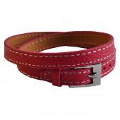 Bracelet en cuir fushia