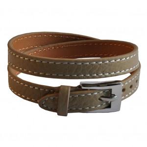 Bracelet en cuir beige