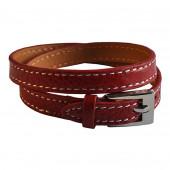 Bracelet en cuir rouge Hermès