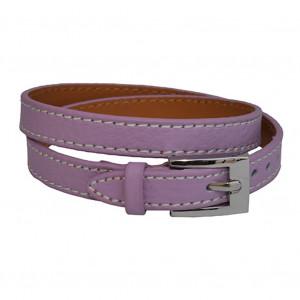Bracelet en cuir Lavande
