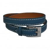 Bracelet en cuir Bleu Vénitien