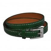 Bracelet en cuir Vert Amazonien