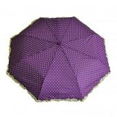 Parapluie froufrous violet à cœoeurs crèmes