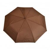 Parapluie marron, liseré crème