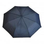 Parapluie bleu, liseré gris