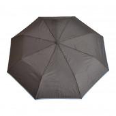 Parapluie gris, liseré bleu ciel