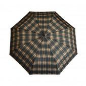 Parapluie écossais noir/marron