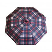 Parapluie écossais marine/fushia