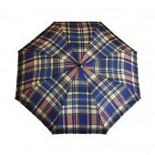 Parapluie écossais bleu roi/beige