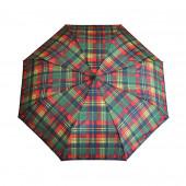 Parapluie écossais vert/rouge