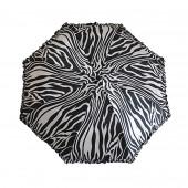 Parapluie zèbre noir