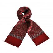 Foulard Carven rouge cachemire