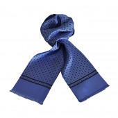 Foulard Carven bleu ciel à motifs