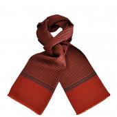 Foulard Carven rouge brique