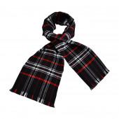 Echarpe écossaise noire
