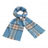 Echarpe écossaise bleu / blanc