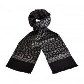 Foulard Carven noir cachemire