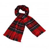 Echarpe écossaise rouge/vert sapin
