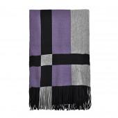 Echarpe Cube Encadré noir/violet