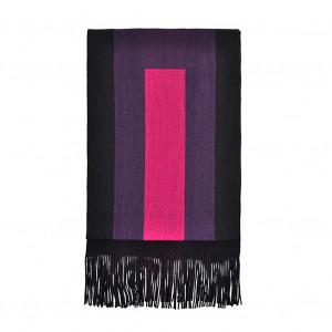 Echarpe Nevers noir/fushia/violet