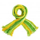 Echarpe soie froissée, vert anis