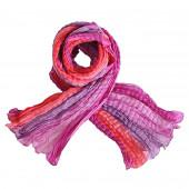Echarpe soie lilas