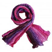 Echarpe soie froissée, violette