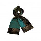 Echarpe Patch vert / bleu
