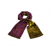 Echarpe violette Palatchy en velours