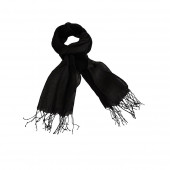 Echarpe en lin de couleur noire