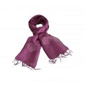 Echarpe lin de couleur lilas