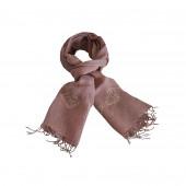 Echarpe lin de couleur Vieux Rose