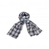Echarpe foulard madras bleu jean