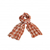 Echarpe foulard madras orange