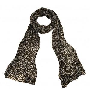 Echarpe léopard, noire