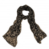 Echarpe léopard, City noir
