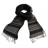 Foulard noir à rayures