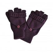 Mitaines violettes avec moufle amovible