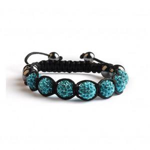 Shamballa 7 Perles - Bleu
