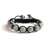 Shamballa 7 Perles - Crystal