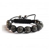 Shamballa 7 Perles - Black Diamond