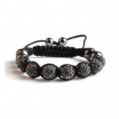 Shamballa 7 Perles - Black Diamond