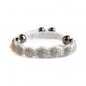 Shamballa 7 Perles - Blanc