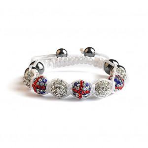 Shamballa 7 Perles - UK / Blanc