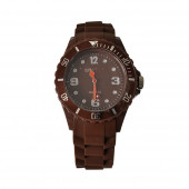 Montre Silicone, marron