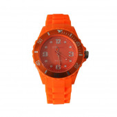 Montre Silicone, orange
