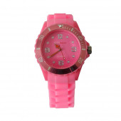 Montre Silicone, rose