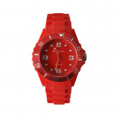 Montre Silicone, rouge