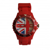 Montre Silicone, rouge / UK